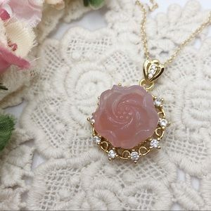 S925 Rose Yanyuan Agate Necklace